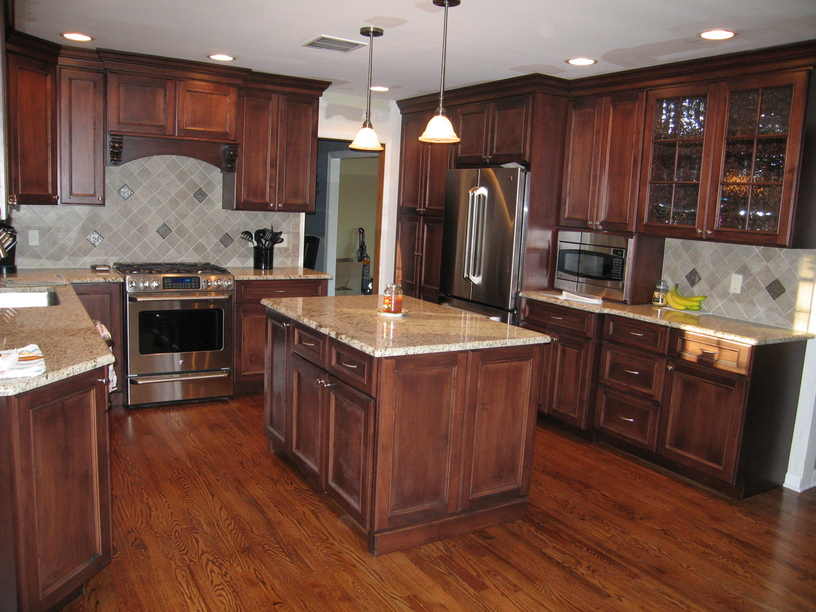 Custom Kitchens By Chuck Kitchen Bathroom Countertop Cabinets Flooring Fireplace Mantel Remodeling New Jersey